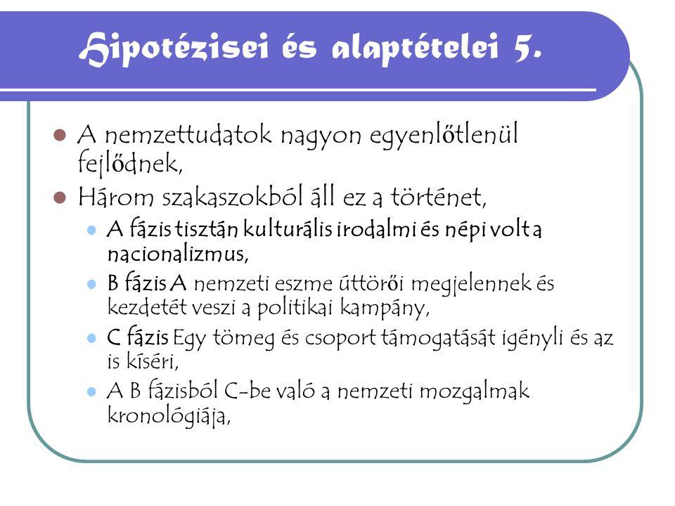 Hipotézisei és alaptételei 5.