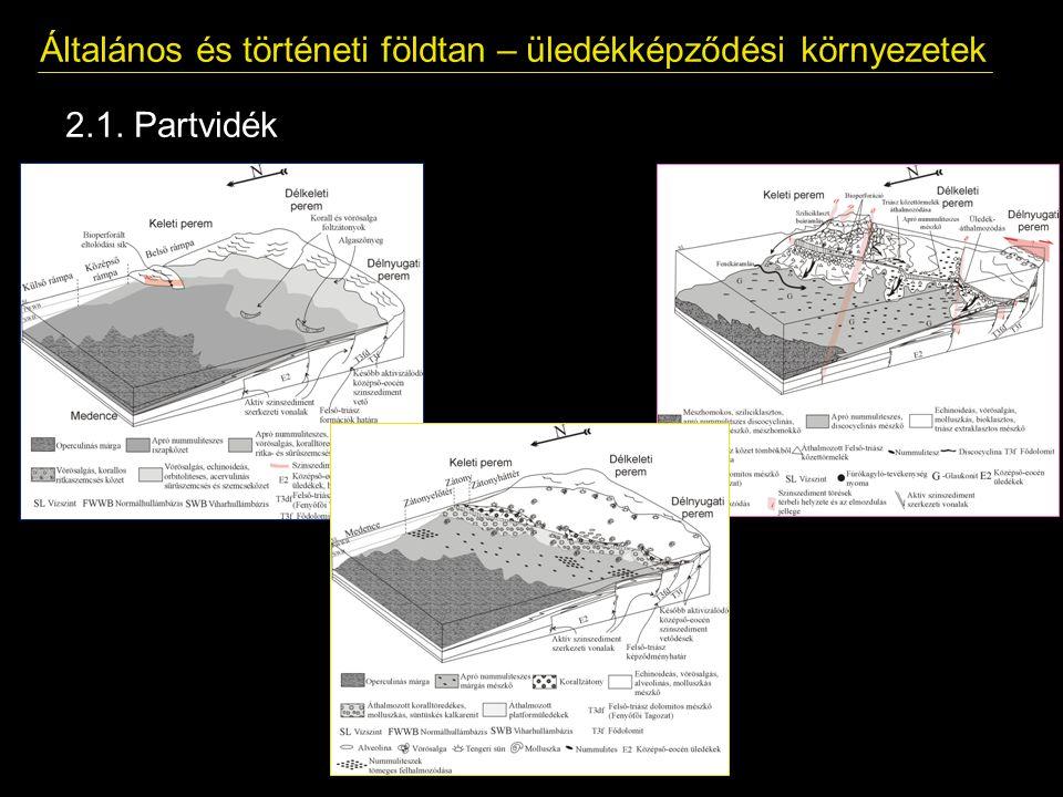 Általános és történeti földtan – üledékképződési környezetek 2.1. Partvidék