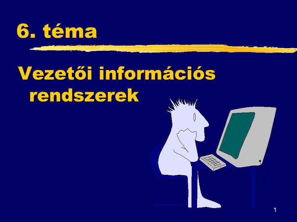 1 6. téma Vezetői információs rendszerek