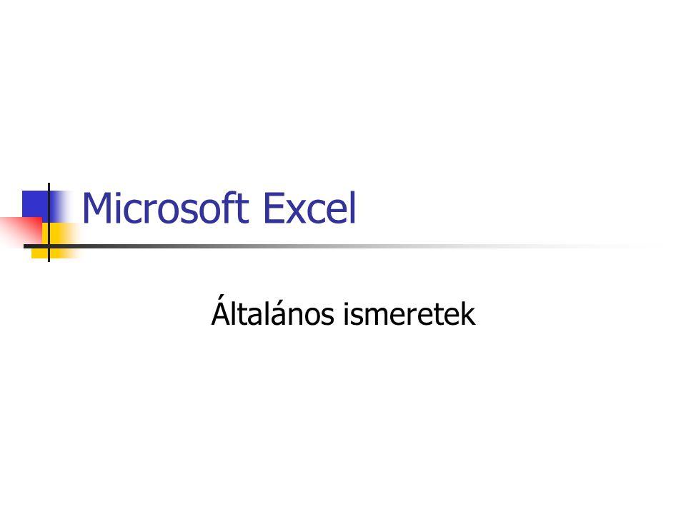 Indítás Start menü Excel.exe XLStart mappa Eszközök/Beállítások/Általános/Indításk or minden fájl betöltése e mappából Auto_Open makró tiltása: SHIFT