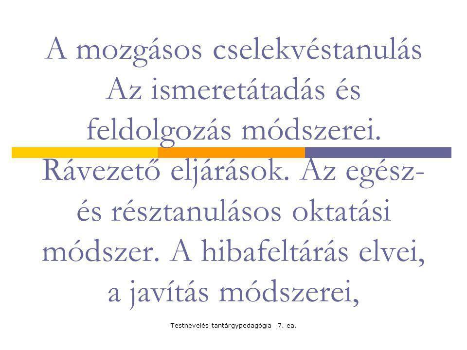 Testnevelés tantárgypedagógia 7.ea.