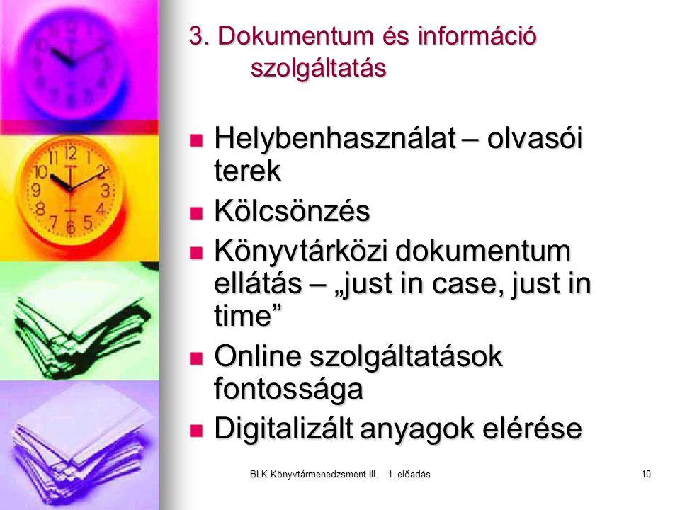 BLK Könyvtármenedzsment III. 1. előadás10 3.