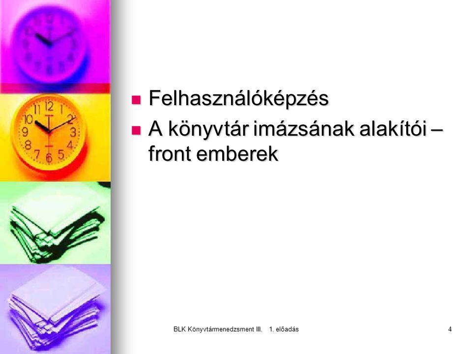 BLK Könyvtármenedzsment III. 1.