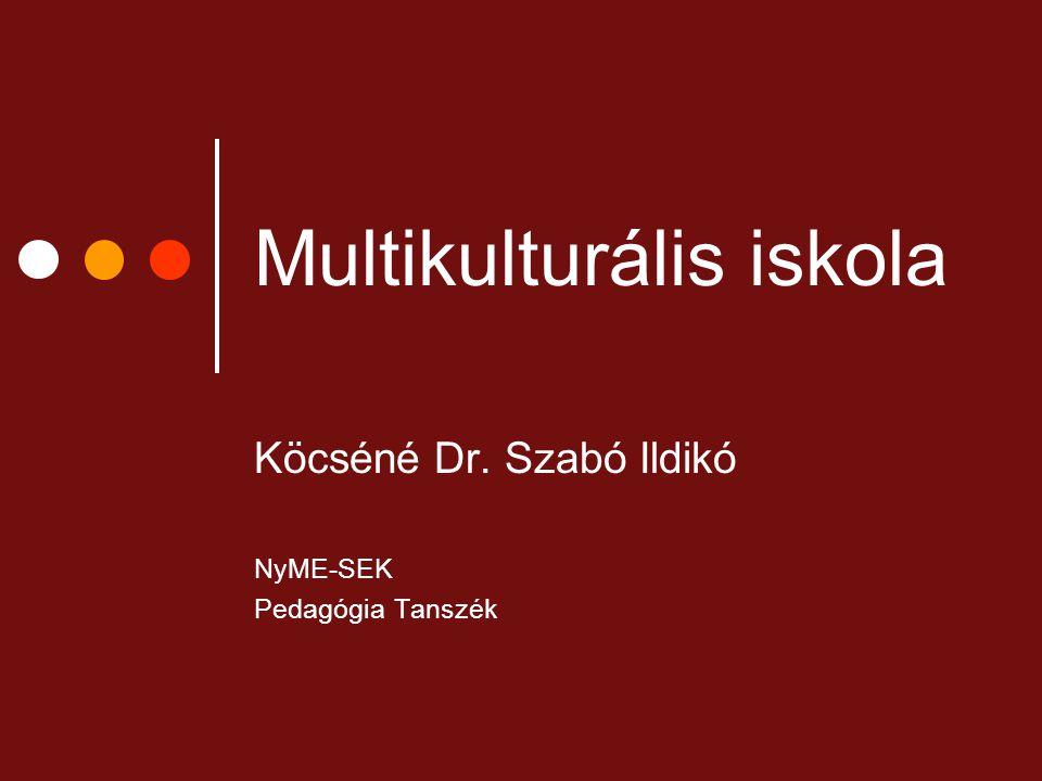 Multikulturális iskola Köcséné Dr. Szabó Ildikó NyME-SEK Pedagógia Tanszék