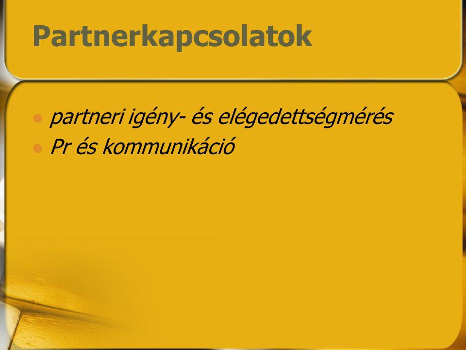 Partnerkapcsolatok partneri igény- és elégedettségmérés Pr és kommunikáció