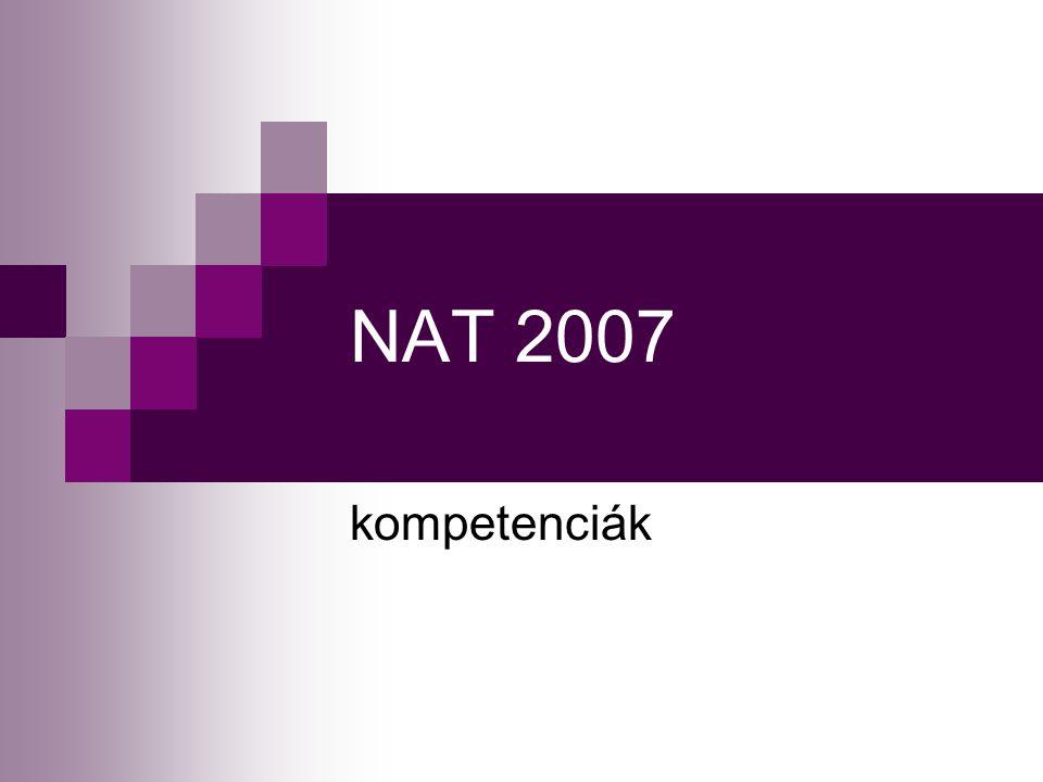 NAT 2007 kompetenciák