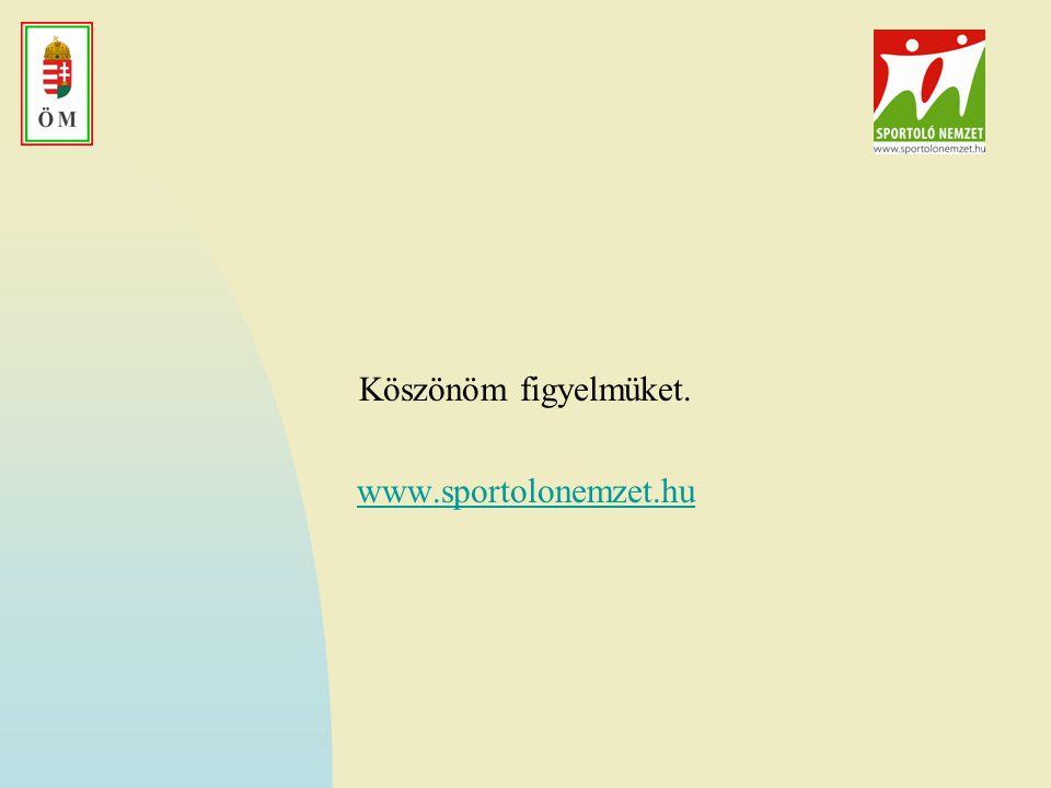 Köszönöm figyelmüket. www.sportolonemzet.hu