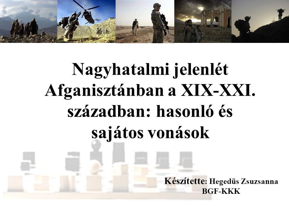 Nagyhatalmi jelenlét Afganisztánban a XIX-XXI.