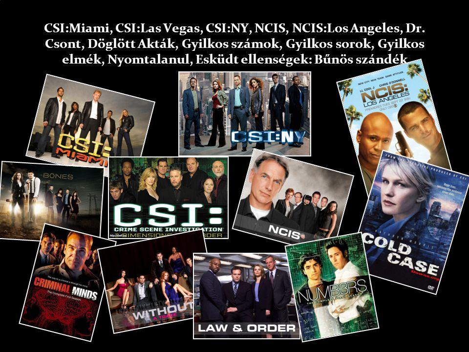 CSI:Miami, CSI:Las Vegas, CSI:NY, NCIS, NCIS:Los Angeles, Dr.