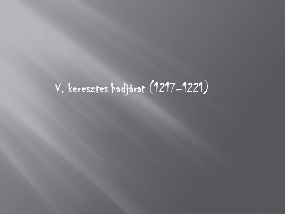 V. keresztes hadjárat (1217–1221)
