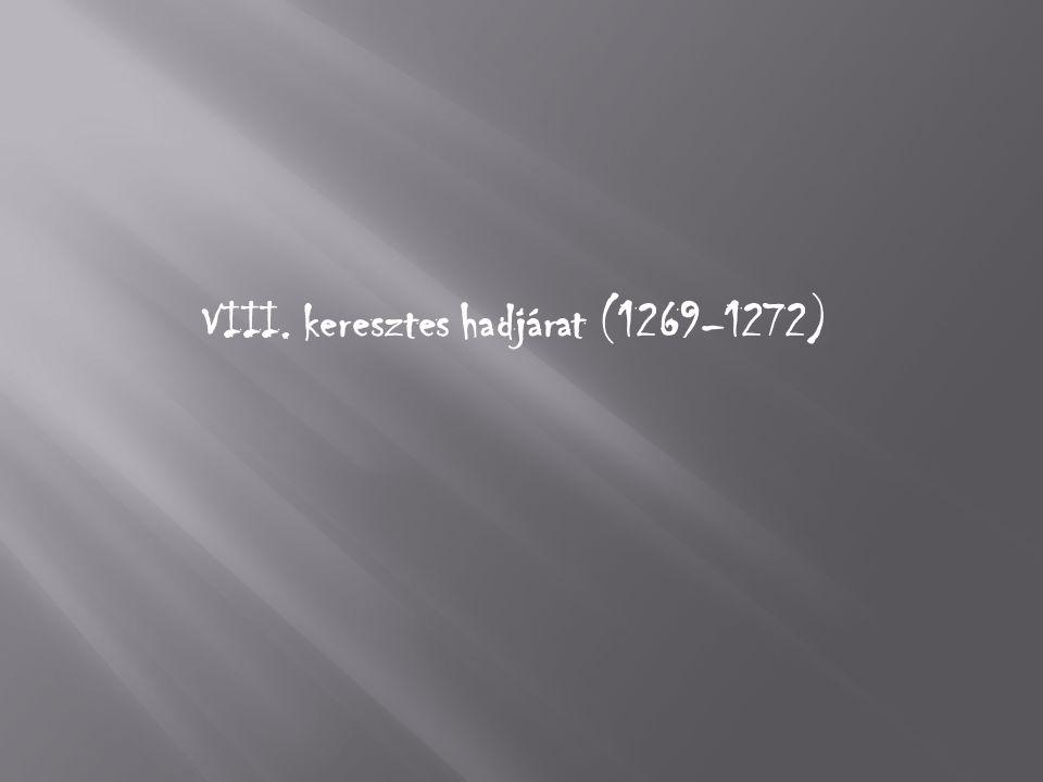 VIII. keresztes hadjárat (1269–1272)