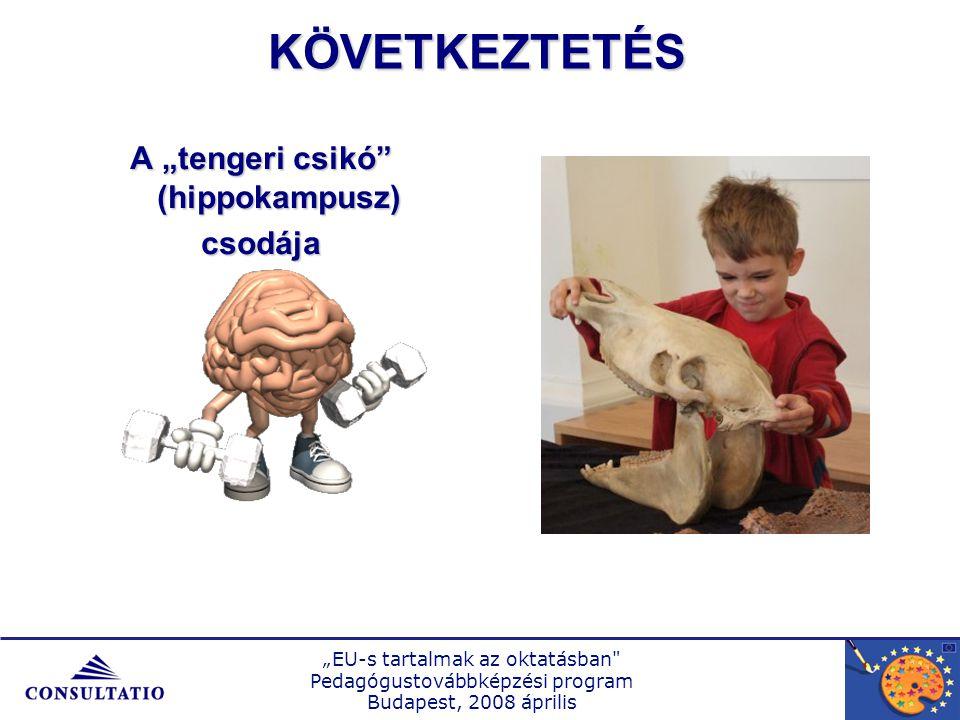 """""""EU-s tartalmak az oktatásban Pedagógustovábbképzési program Budapest, 2008 április A """"tengeri csikó (hippokampusz) csodája KÖVETKEZTETÉS"""