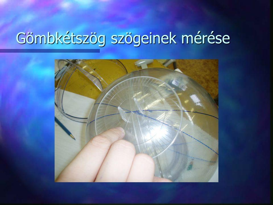 Gömbkétszög szögeinek mérése