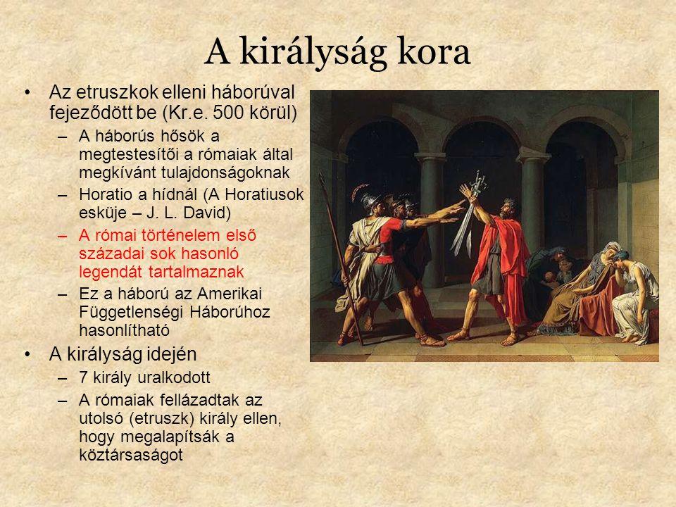 A királyság kora Az etruszkok elleni háborúval fejeződött be (Kr.e.