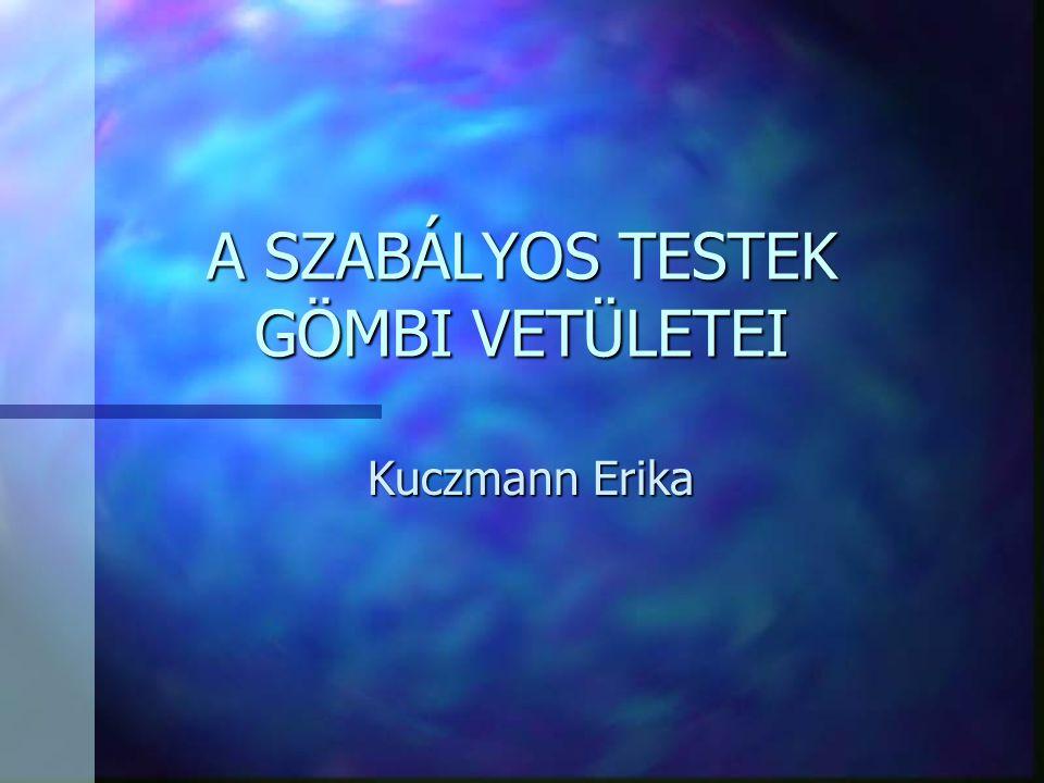 A SZABÁLYOS TESTEK GÖMBI VETÜLETEI Kuczmann Erika