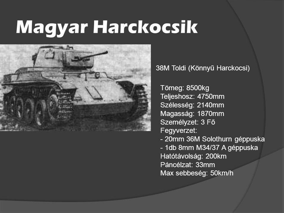 Olasz harckocsik P40 (nehéz harckocsi) Tömeg: 26000kg Teljeshosz: 5800mm Magasság: 2500mm Személyzet: 4 Fő Fegyverzet: -1db 75mm Ansaldo L/34 ágyú -2d