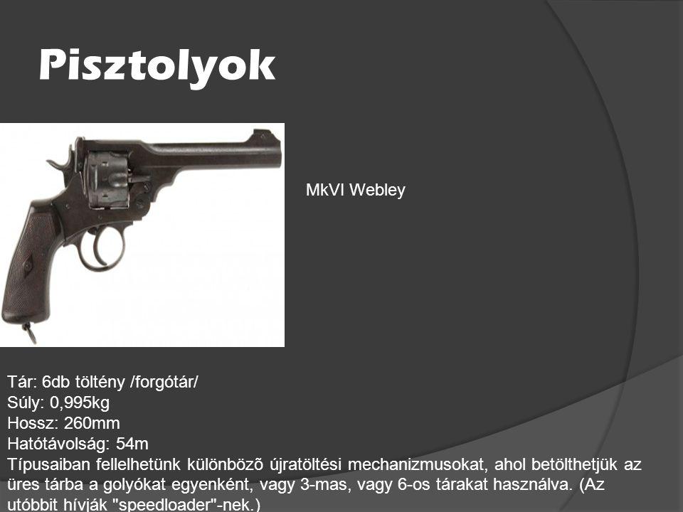 Angol Fegyverek Páncéltörők: Tár: 5db töltény /szekrénytár/ Súly: 16kg Hossz: 1575mm Hatótávolság: 91m A tolózáras mûködésû fegyver a 14 milliméteres