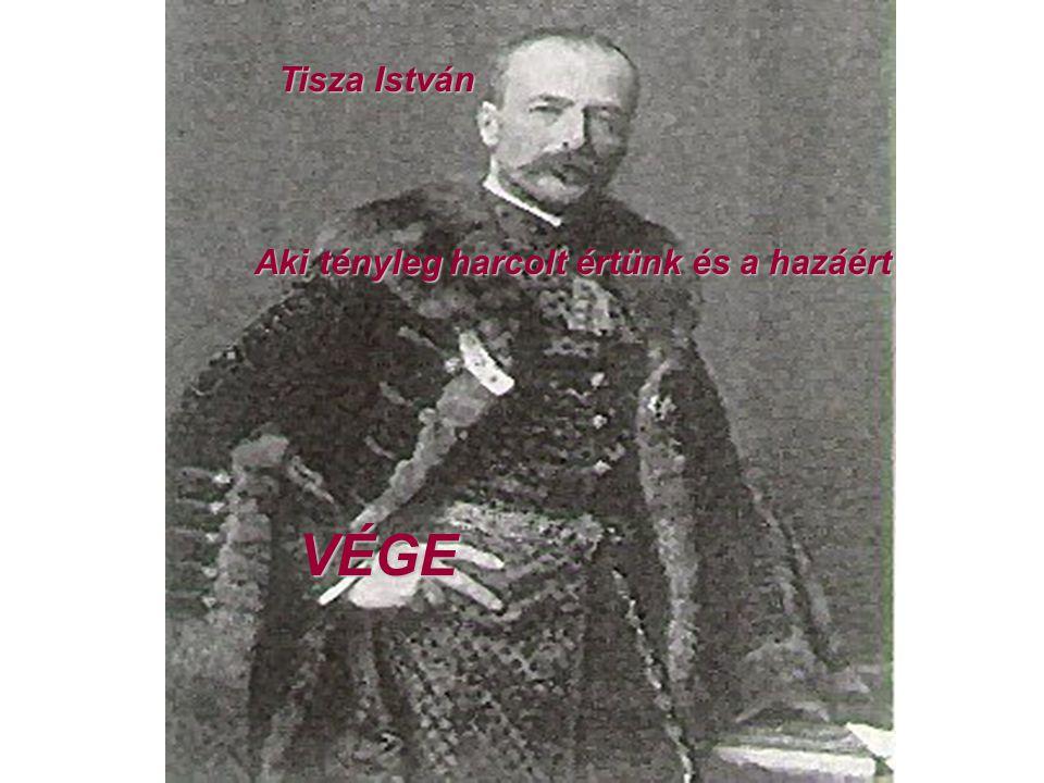 Tisza István Tisza István Aki tényleg harcolt értünk és a hazáért VÉGE