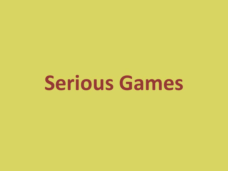 Komoly játékok Olyan videojátékok, melyek elsődleges funkciója nem a szórakoztatás (entertaining games with non-entertainment goals) Többnyire nem COTS (Commercial, off-the- shelf) játékok