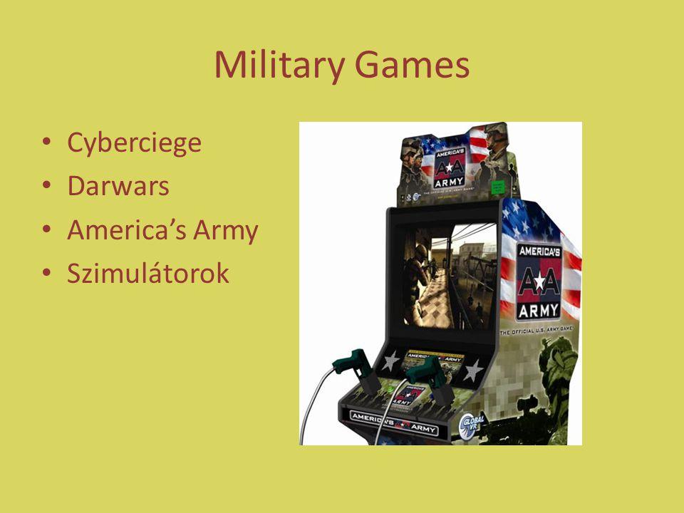 Military Games Cyberciege Darwars America's Army Szimulátorok