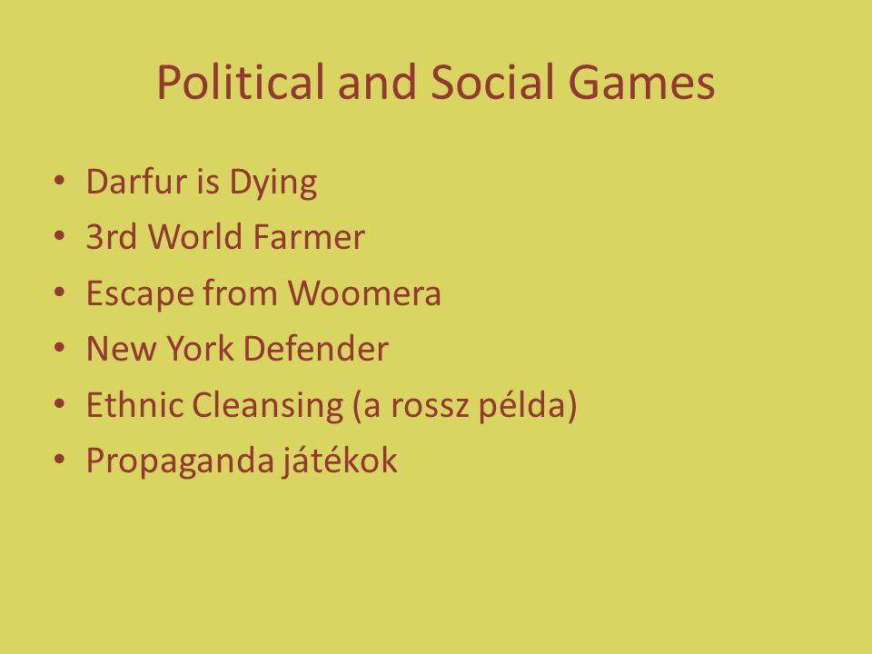 COTS potenciál még Online játékok Szociális skillek (!?) Kapcsolatháló Csapatjáték Adott játék köré szerveződő online közösségek Guildek, klánok