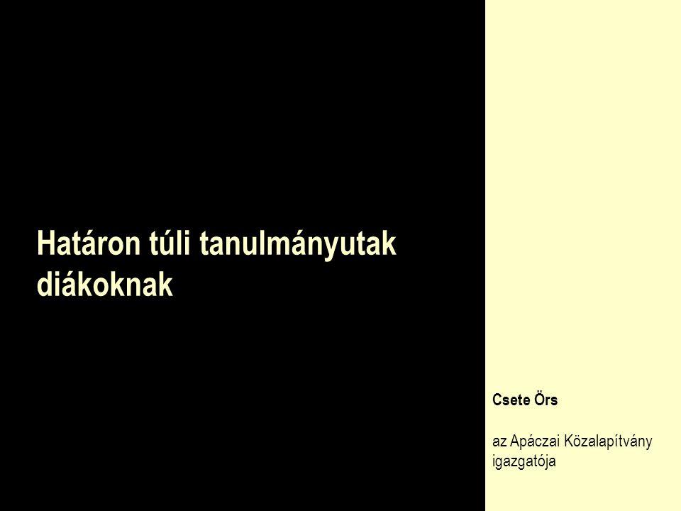 Testvériskolai kapcsolatok  13 kapcsolat határon túli magyar tannyelvű intézmények irányába