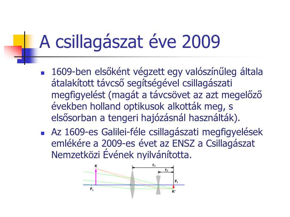 A csillagászat éve 2009 1609-ben elsőként végzett egy valószínűleg általa átalakított távcső segítségével csillagászati megfigyelést (magát a távcsöve