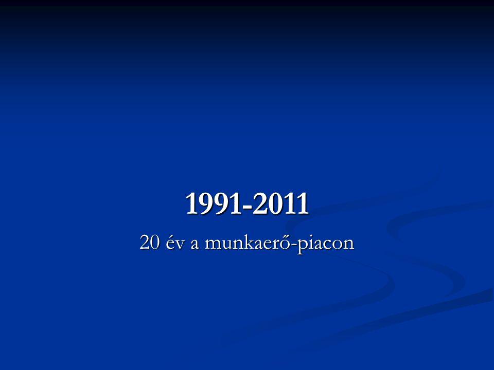 1991-2011 20 év a munkaerő-piacon