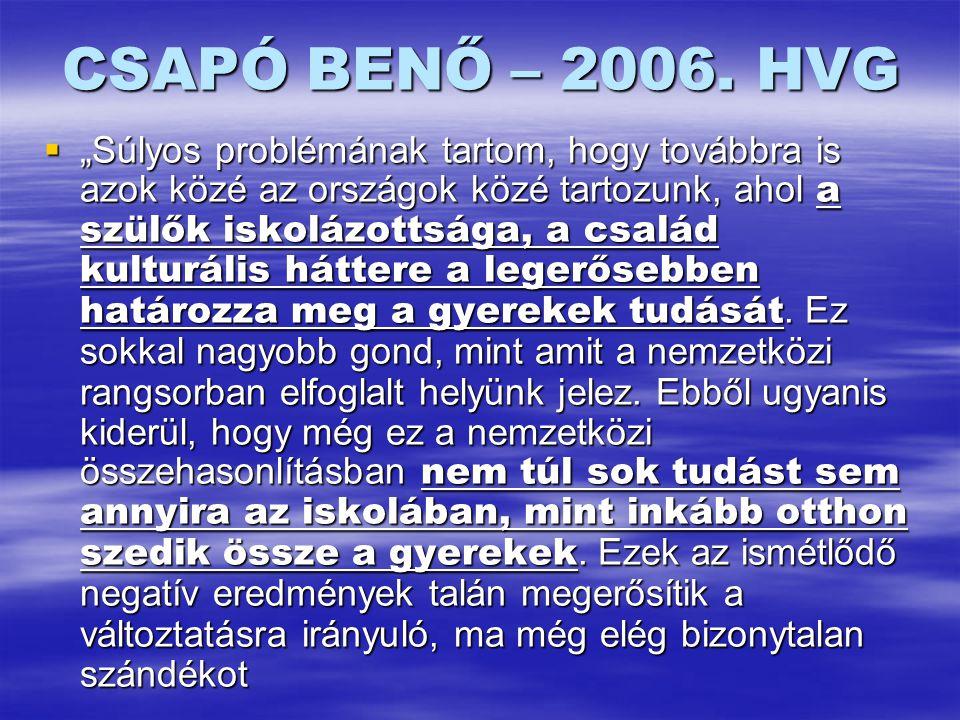 CSAPÓ BENŐ – 2006.