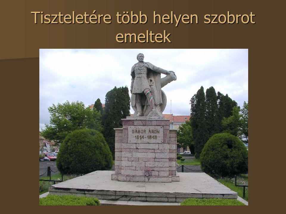 Tiszteletére több helyen szobrot emeltek