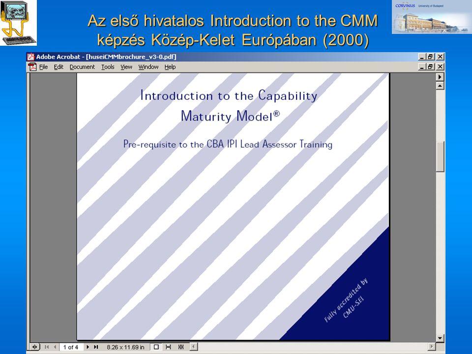 ©Dr. Biró Miklós Budapesti Corvinus Egyetem A CMMI és az ISO/IEC 15504 terjedése és fejlôdési irányai 39 Az első hivatalos Introduction to the CMM kép