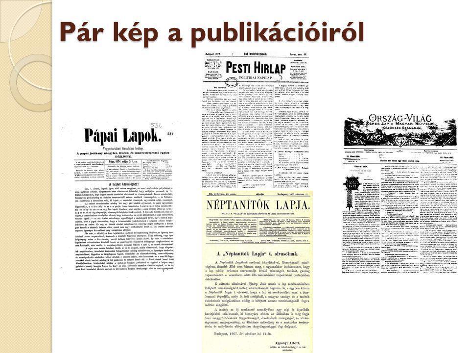 Pár kép a publikációiról