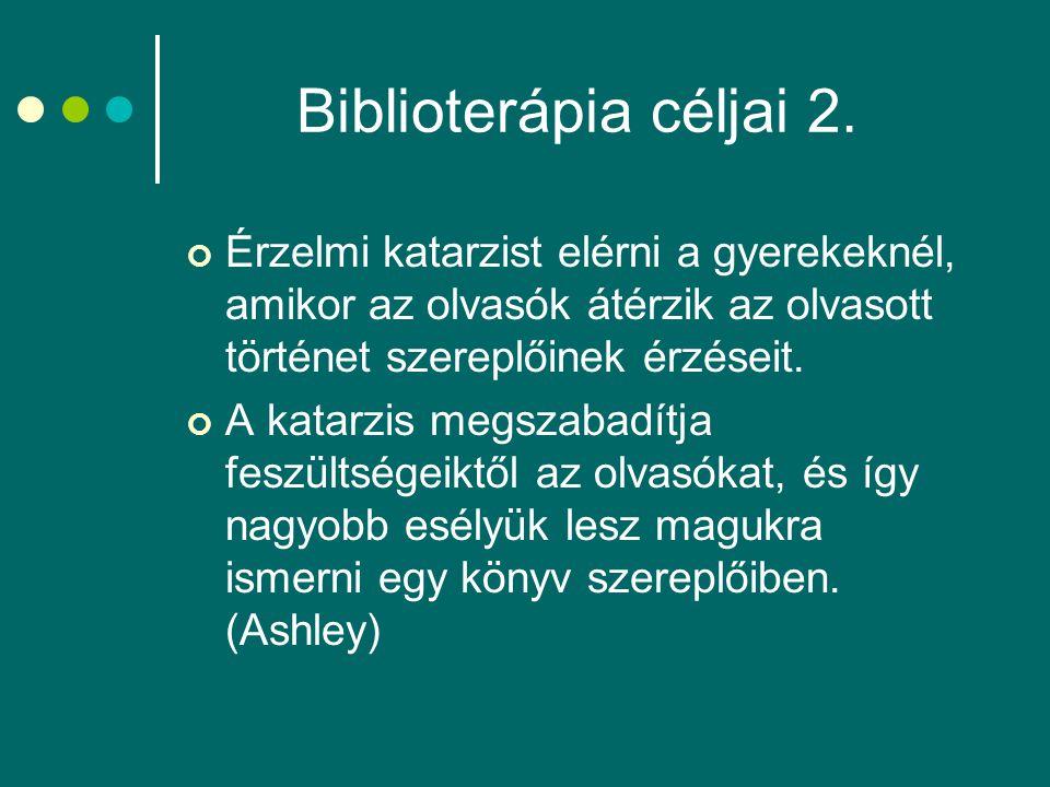 Biblioterápia céljai 2.