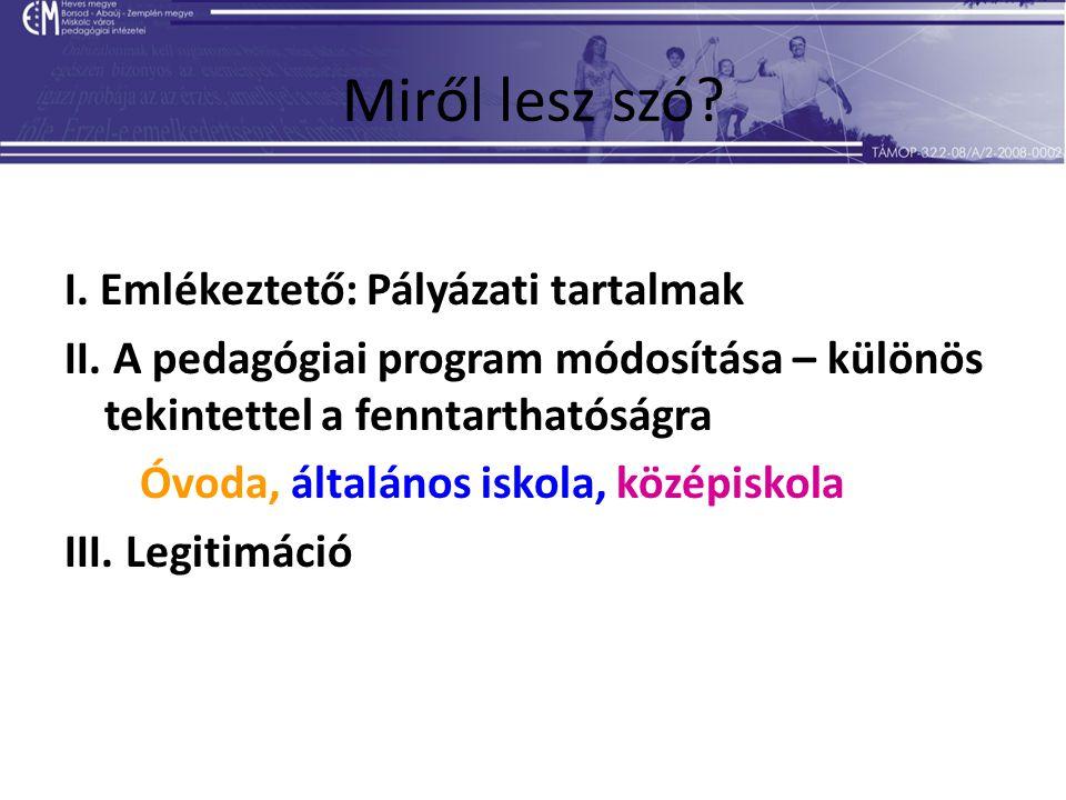 33 II.A pedagógiai program tartalma Középiskola 1.
