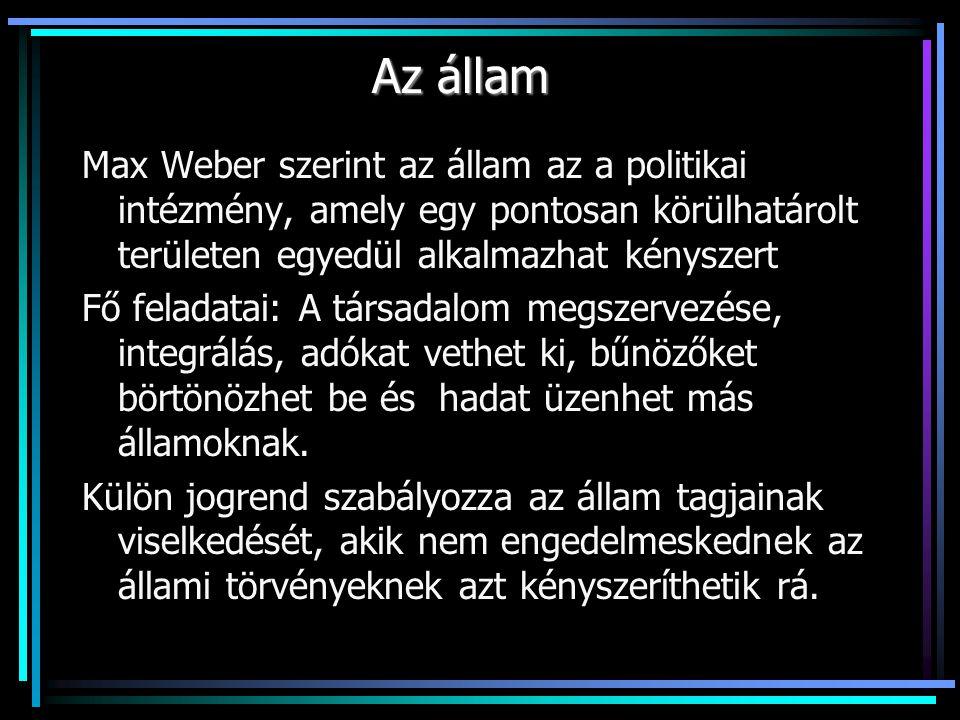 A magyar kormányzati rendszer főbb vonásai 1.A törvényhozó hatalom: Országgyűlés A legfontosabb államhatalmi szerv Egykamarás 386 választott képviselőből áll A képviselők felét egyéni, másik felét listás jelöléssel választják A listát pártok állítják, az kerülhet be, aki a szavazatok legalább 5 %-át elérte Alkotmány módosításához a képviselők 2/3-os beleegyezése szükséges