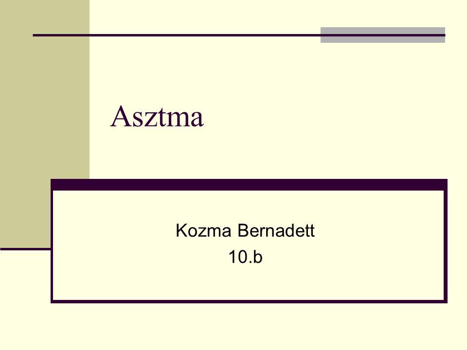 Mi az Asztma.Egy krónikus betegség. Légutak nyálkahártyájának gyulladásából fakad.