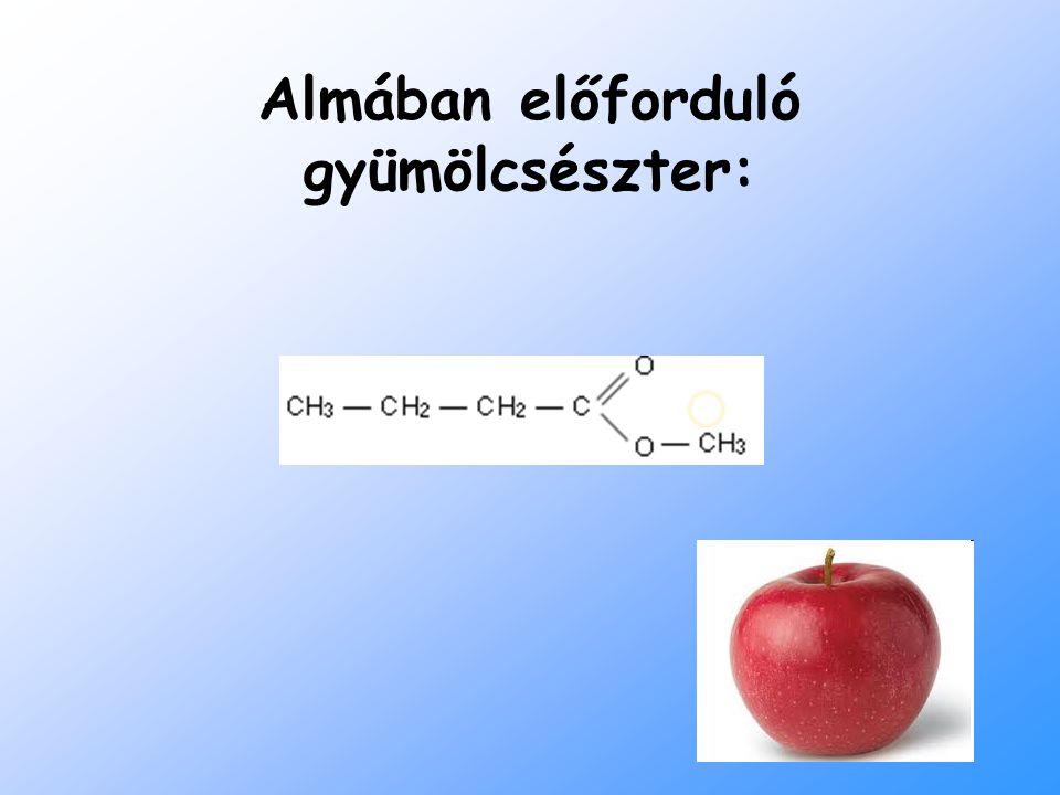 Almában előforduló gyümölcsészter: