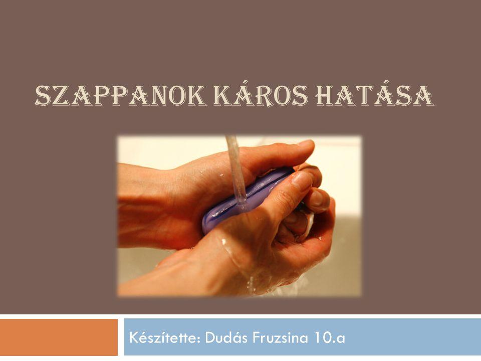 SZAPPANOK KÁROS HATÁSA Készítette: Dudás Fruzsina 10.a