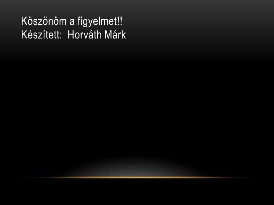 Köszönöm a figyelmet!! Készített: Horváth Márk