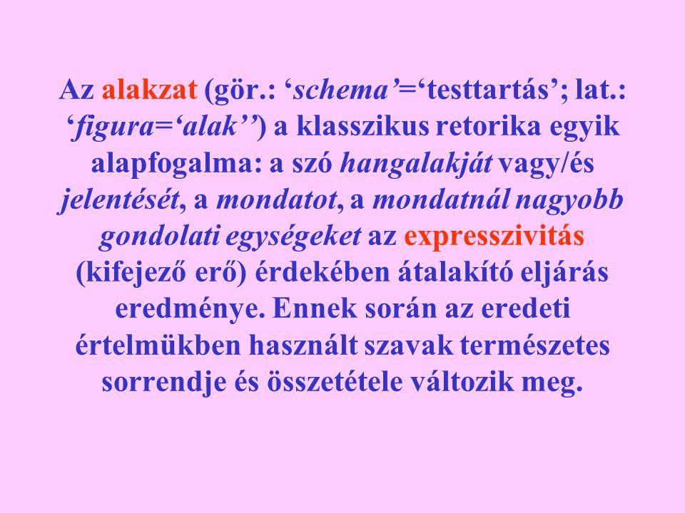 Az alakzat (gör.: 'schema'='testtartás'; lat.: 'figura='alak'') a klasszikus retorika egyik alapfogalma: a szó hangalakját vagy/és jelentését, a monda