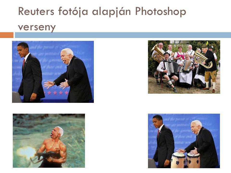 Reuters fotója alapján Photoshop verseny