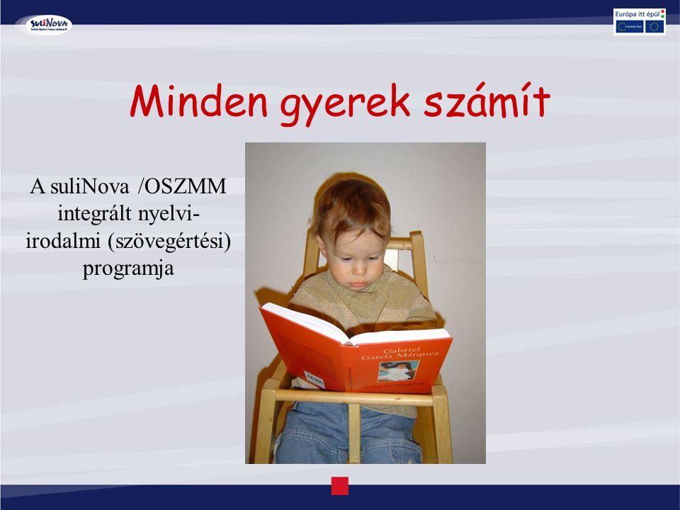 Minden gyerek számít A suliNova /OSZMM integrált nyelvi- irodalmi (szövegértési) programja