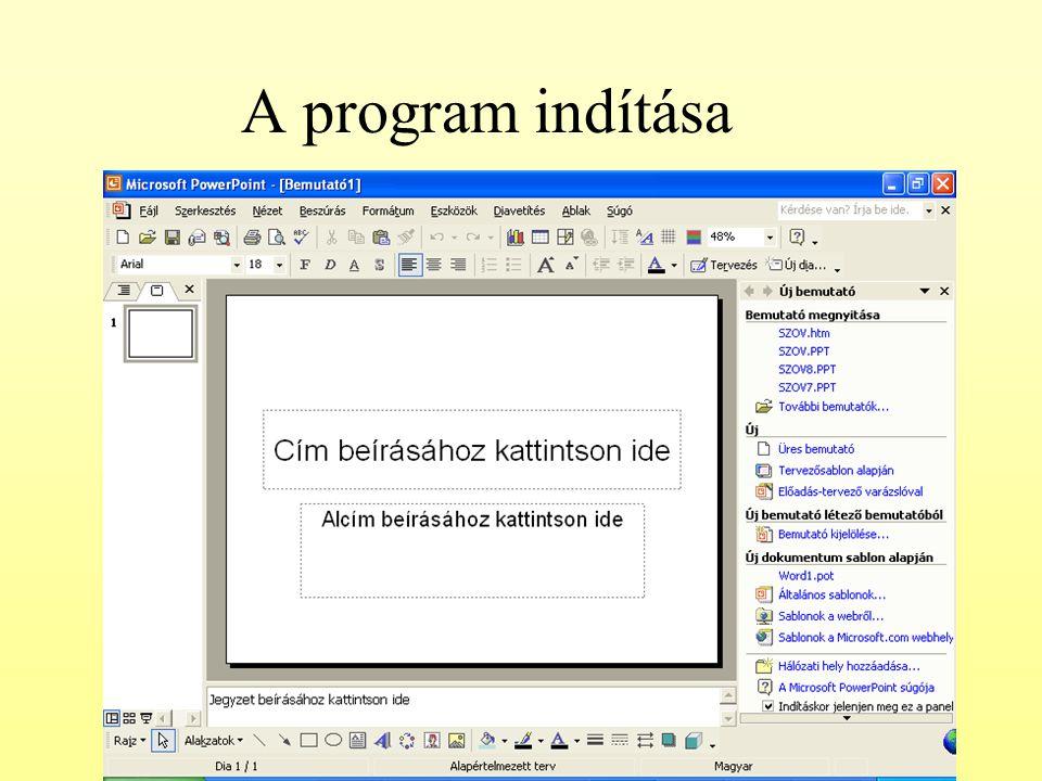 A program indítása