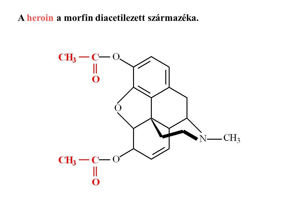 A heroin a morfin diacetilezett származéka.