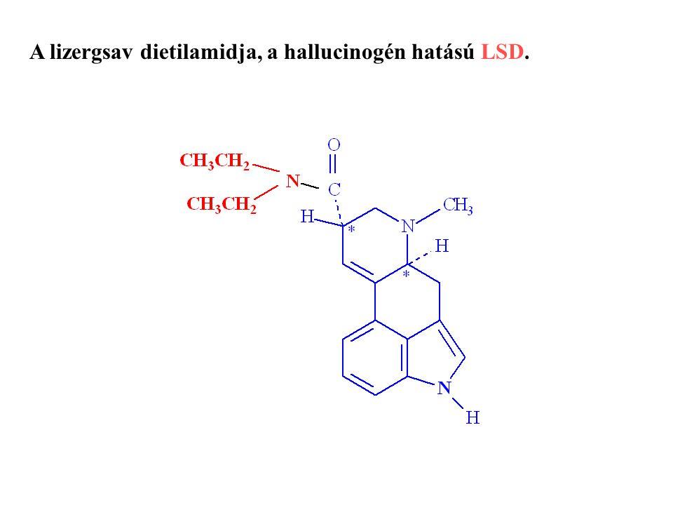 A lizergsav dietilamidja, a hallucinogén hatású LSD.