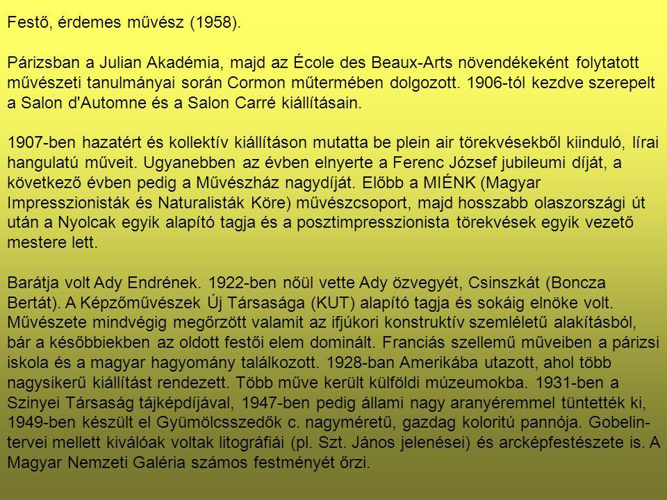 Nyolcak 1911-es tárlata idején Bölöni György tanulmányt közölt Márffy Ödönről az Aurorában.