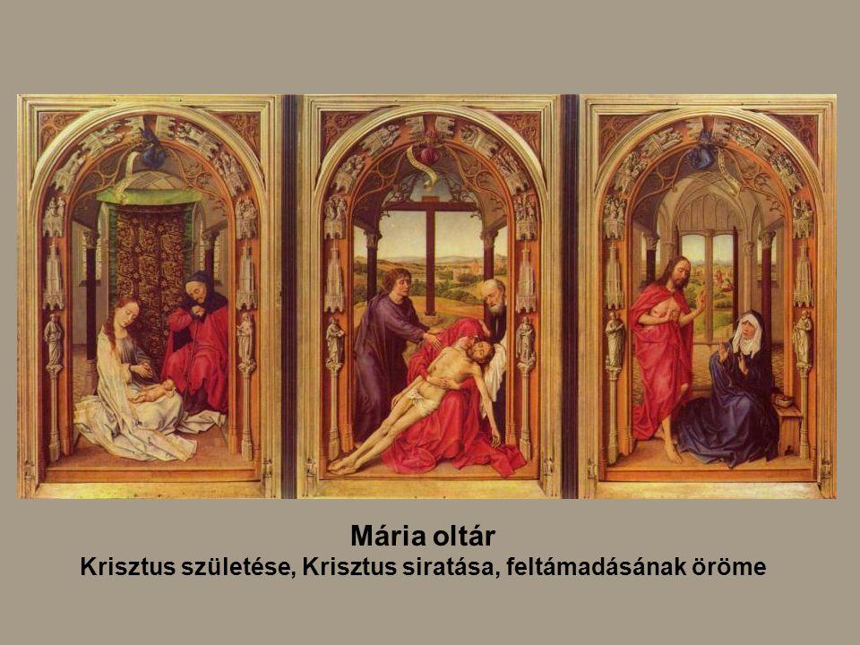 Mária oltár Krisztus születése, Krisztus siratása, feltámadásának öröme