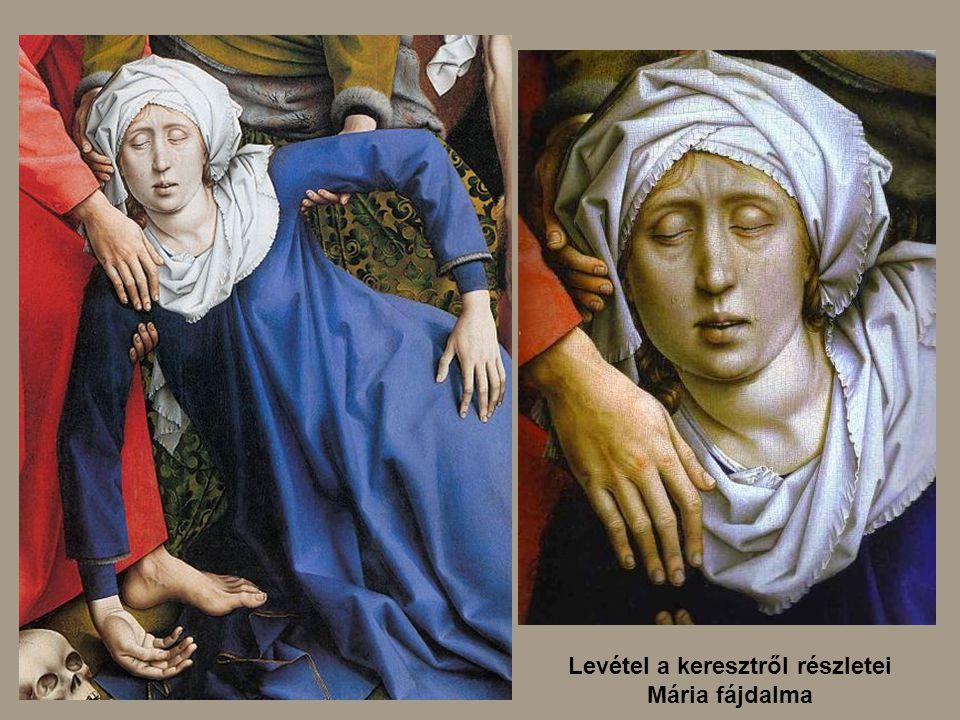 Levétel a keresztről részletei Mária fájdalma