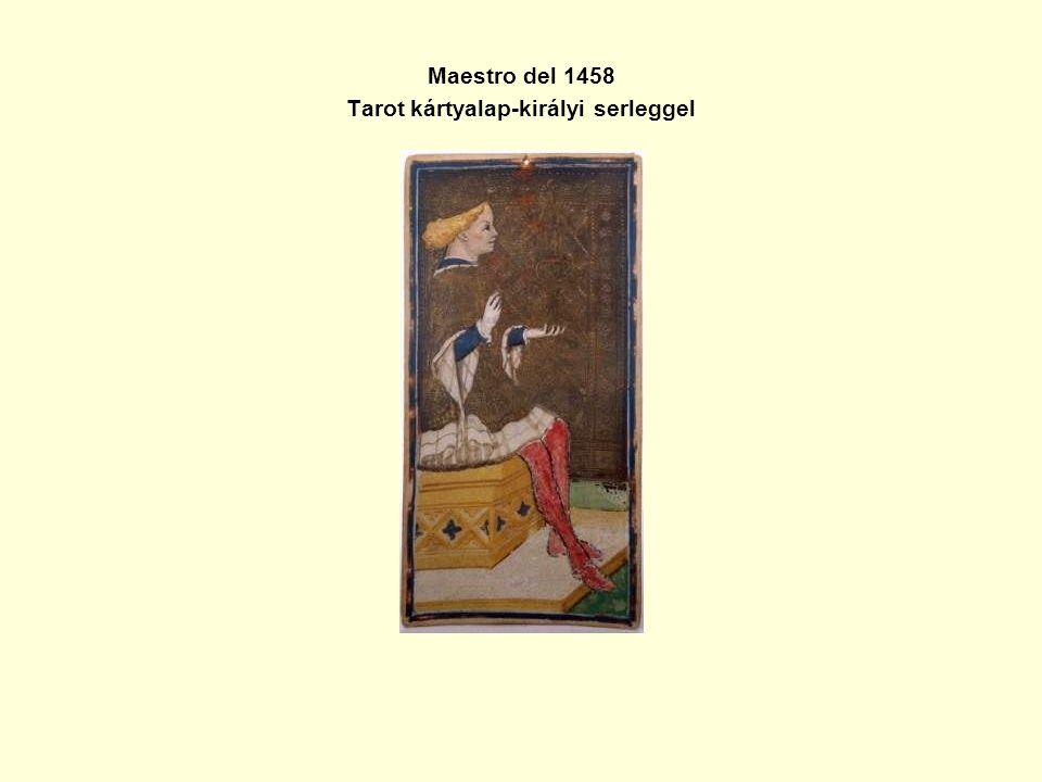 Maestro del 1458 Tarot kártyalap-királyi serleggel