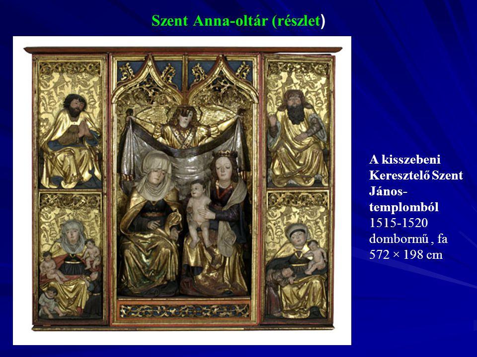 Szent Anna-oltár (részlet ) A kisszebeni Keresztelő Szent János- templomból 1515-1520 dombormű, fa 572 × 198 cm